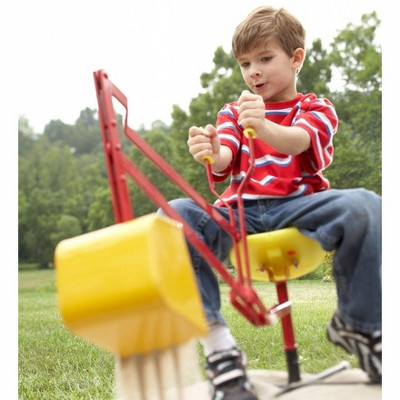 HearthSong - Sturdy Steel Sand Digger for Kids with 360 Degree Rotation
