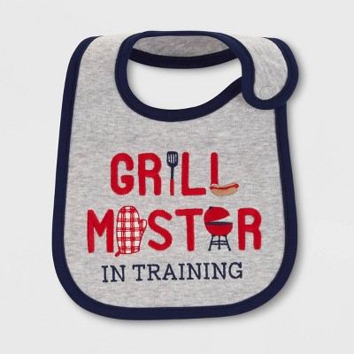Baby 'Grill Master' Bib - Just One You® made by carter's Gray