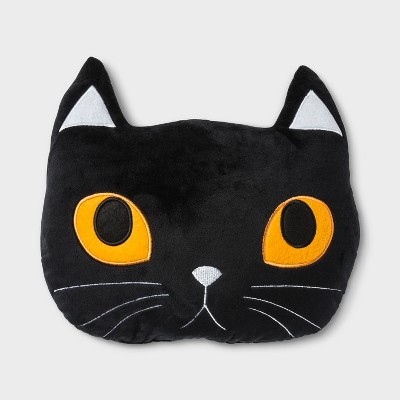 Plush Cat Shaped Throw Pillow Black - Hyde and Eek! Boutique™
