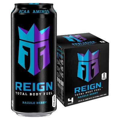 Reign Razzle Berry Energy Drink - 4pk/16 fl oz Cans