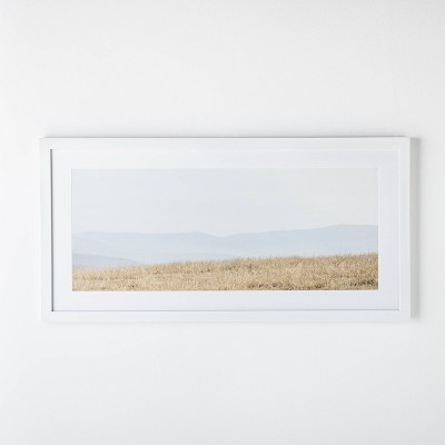"24"" x 48"" Meadow Framed Matted Wall Art Yellow/White - Threshold™ designed with Studio McGee"