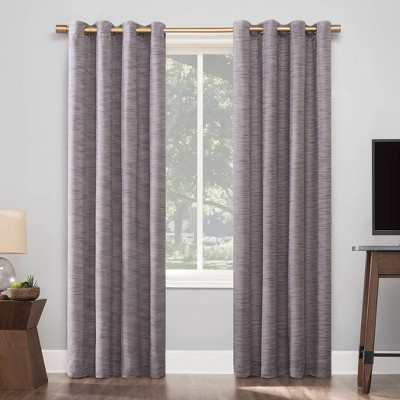 Kamali Textured Strie Thermal Extreme Blackout Grommet Top Curtain Panel - Sun Zero