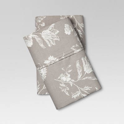 Performance Printed Pillowcases (Standard)Khaki 400 Thread Count - Threshold™