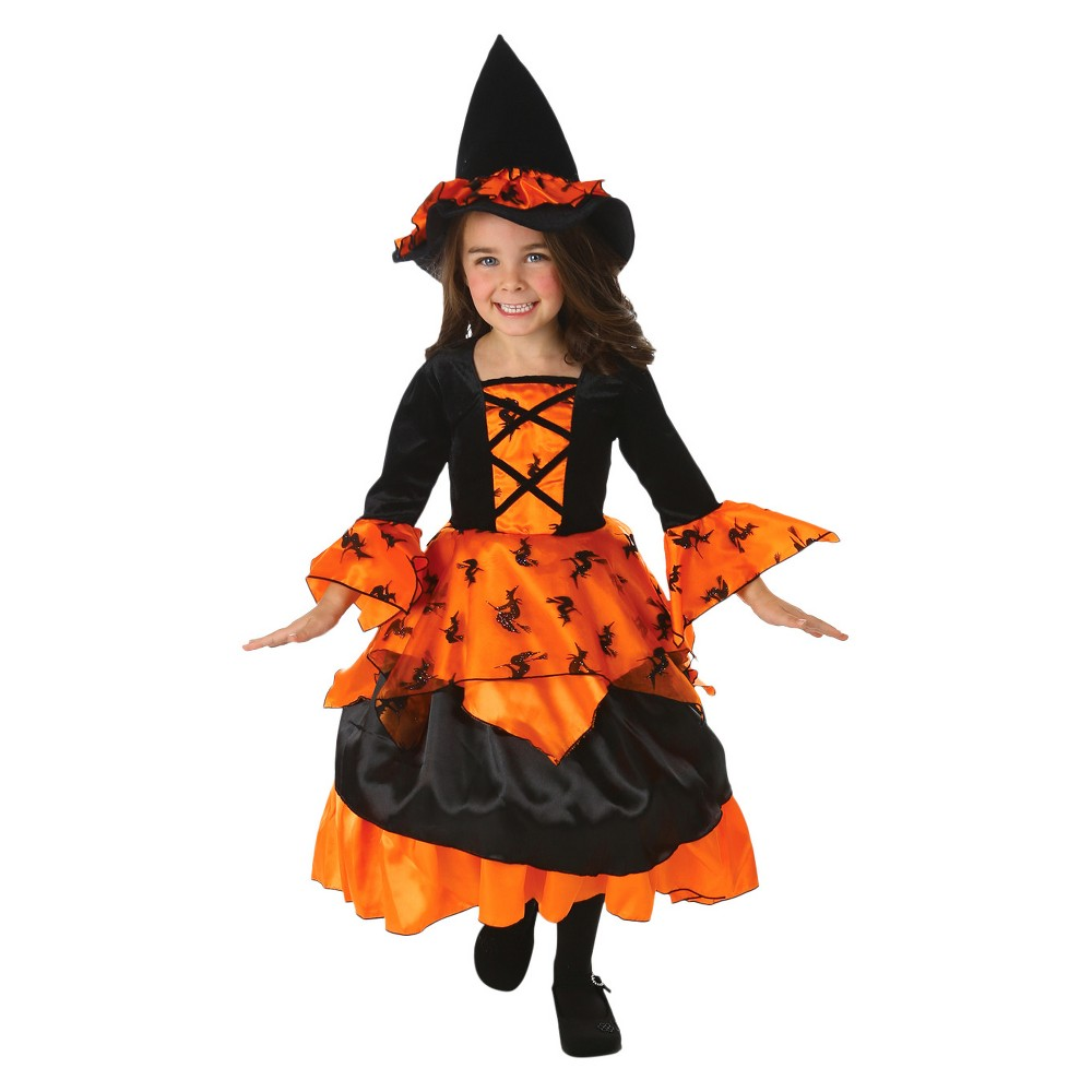 Girls Amelia Witch Costume, Size: 4T, Multi-Colored