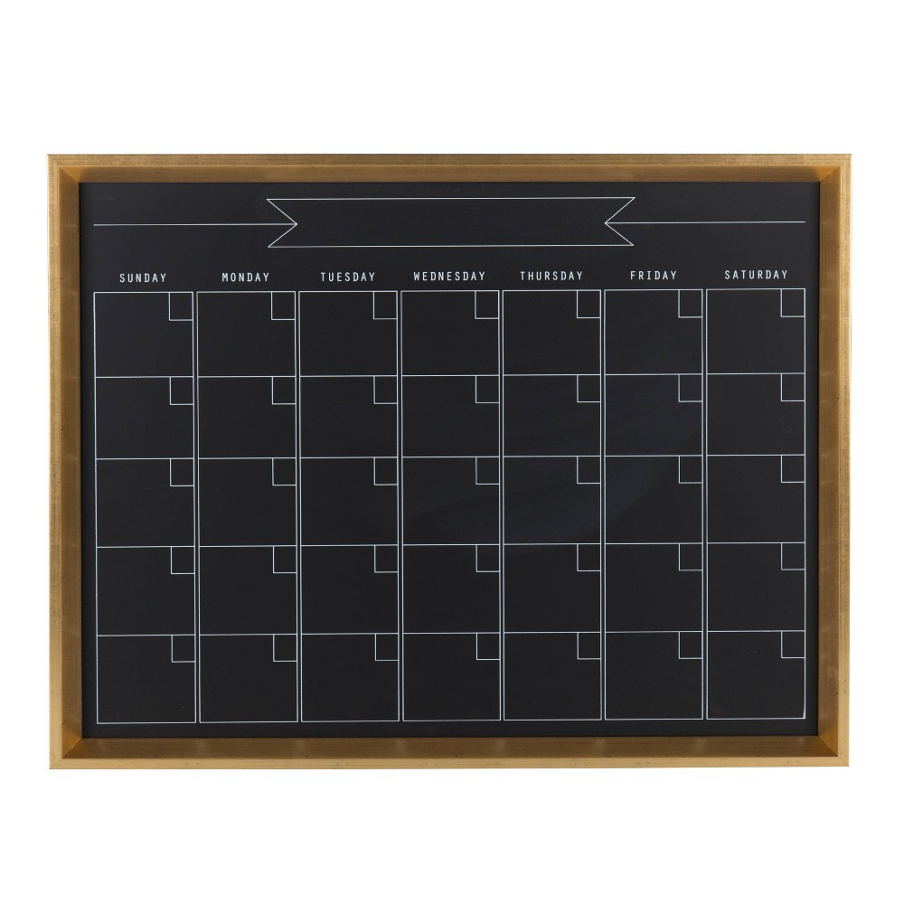 "Image of ""20"""" x 26"""" Calter Chalk Calendar Gold - Kate and Laurel"""