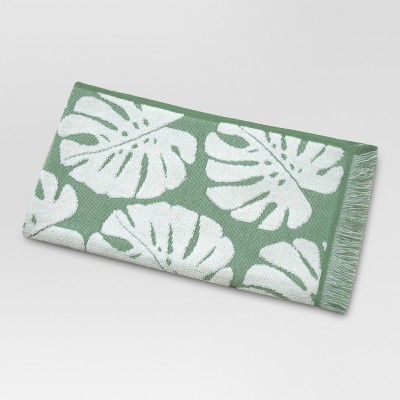 Palm Leaf Hand Towels Cream/Green - Threshold™