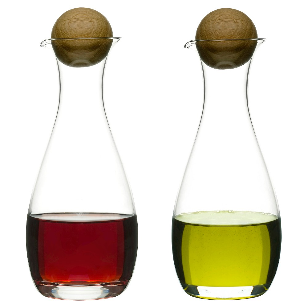 Sagaform Set of 2 Oil Bottles, Clear