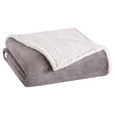 King Microlight To Berber Bed Blanket Gray