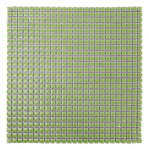 Jennifer's Mosaics Ceramic Solid Square Mosaic Tile Color Sheet, 12 X 12 in, Light Green, 625 Tiles/Sheet - image 1 of 1