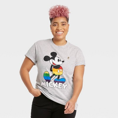 Pride Gender Inclusive Adult Mickey Mouse Short Sleeve Graphic T-Shirt - Gray