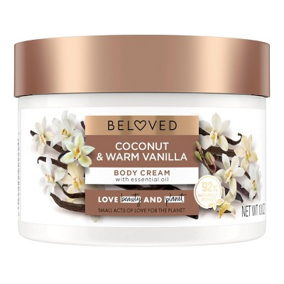 Beloved Coconut & Warm Vanilla Body Cream Lotion - 10oz