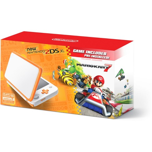 Nintendo 2DS XL with Mario Kart 7 - Orange/White - image 1 of 6