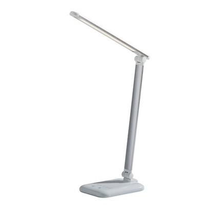 """16.25"""" Lennox Multi-Function Desk Lamp (Includes LED Light Bulb) White - Adesso"""