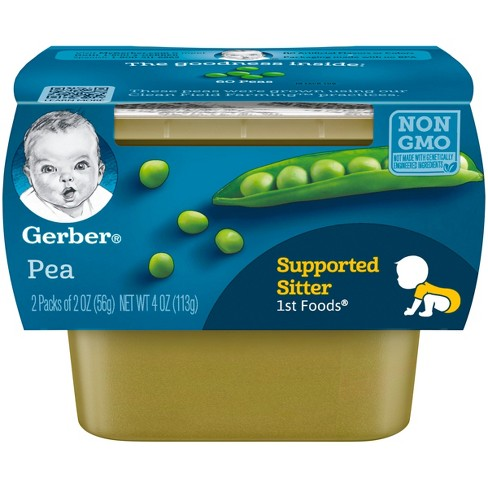 Gerber 1st Foods Baby Food Peas - 2oz (2ct) - image 1 of 3