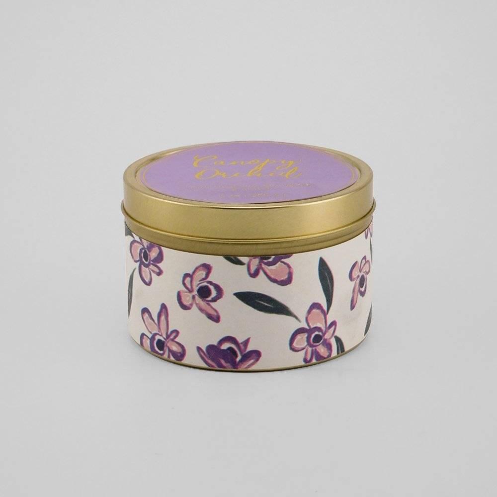 8oz Lidded Tin Candle Canopy Orchid - Opalhouse