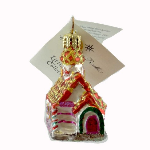 Christopher Radko Gingerbread Chapel Micro Gem Christmas Ornament Church - image 1 of 2