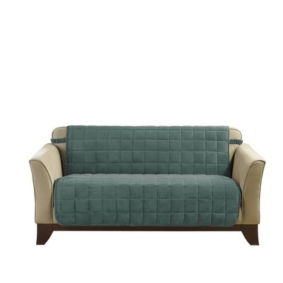 Antimicrobial Deluxe Comfort Quilted Armless Loveseat Furniture Protector - Sure Fit