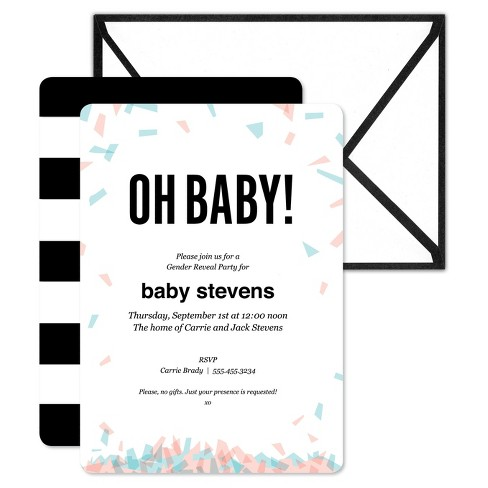 inklings paperie 12ct gender reveal party print on invitations target