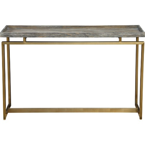 Biscayne Modern Console Table Weathered Gray - Treasure Trove - image 1 of 6