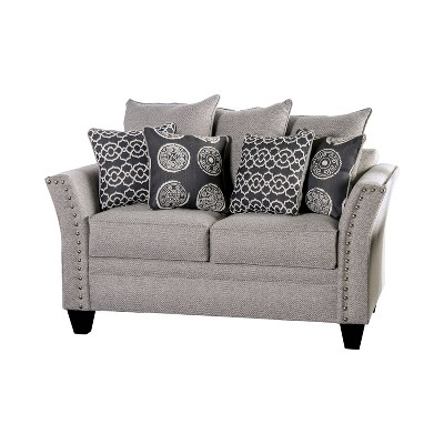 Borego Flared Arm Loveseat Gray - HOMES: Inside + Out
