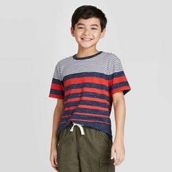Boys' Short Sleeve Stripe T-Shirt - Cat & Jack™ Red/White/Blue