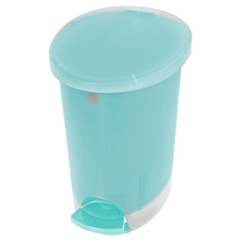 Step Open Trash Can 2.6gallon Blue&nbsp - Room Essentials™ - image 1 of 2