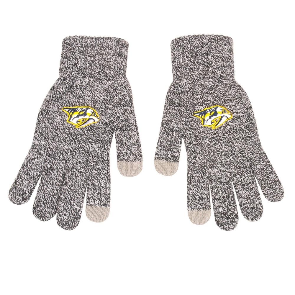 Nhl Nashville Predators Gray Knit Gloves