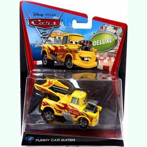 Disney Pixar Cars Cars 2 Deluxe Oversized Funny Car Mater Diecast Car 12 Target