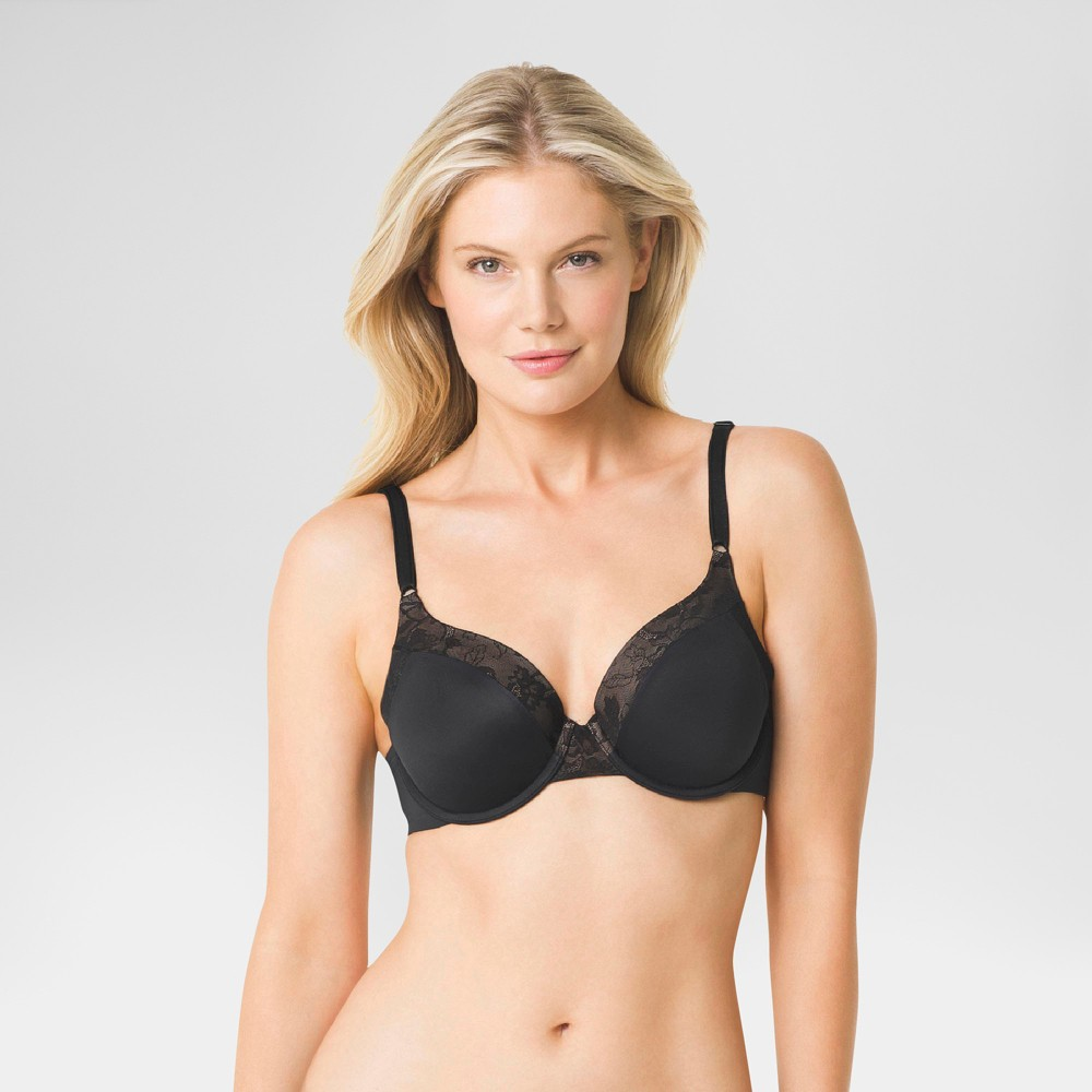 Simply Perfect by Warner's Women's Smooth Look Underwire Bra - Black 34C
