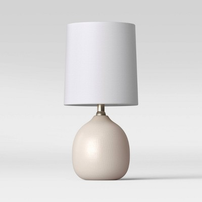 Textured Ceramic Mini LED Accent Lamp White (Includes Energy Efficient Light Bulb)- Threshold™