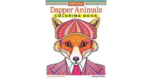 Dapper Animals Adult Coloring Book - image 1 of 1