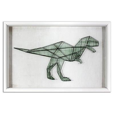 Dinosaur String Framed Wall Art - Pillowfort™