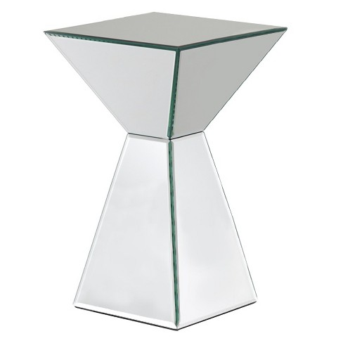 Mirrored Pyramid Living Room Accent Side End Table