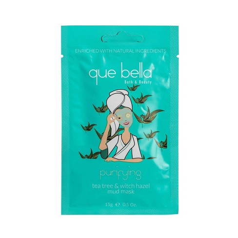 Que Bella Purifying Tea Tree and Witch Hazel Mud Face Mask - 0.5oz - image 1 of 2