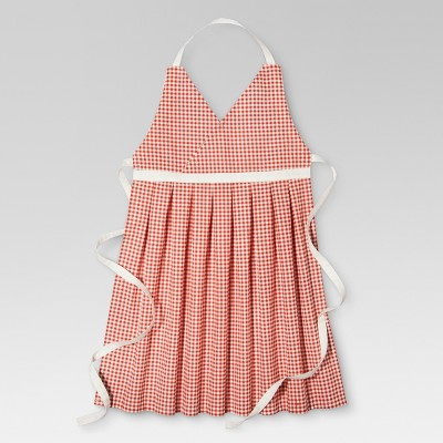 Orange Gingham Kitchen Textiles Cooking Apron - Threshold™