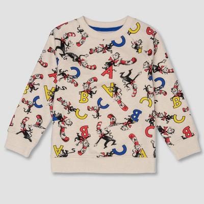 Toddler Boys' Dr. Seuss Cat in the Hat Sweatshirt - Cream 18M