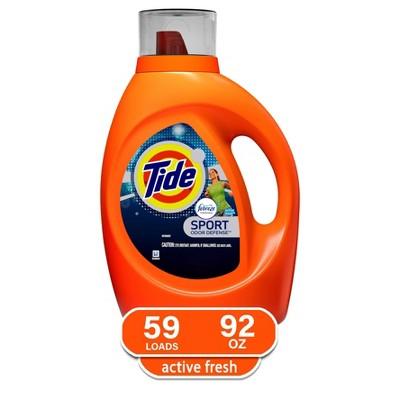 Tide Plus Febreze Sport Active Fresh Liquid Laundry Detergent - 92 fl oz