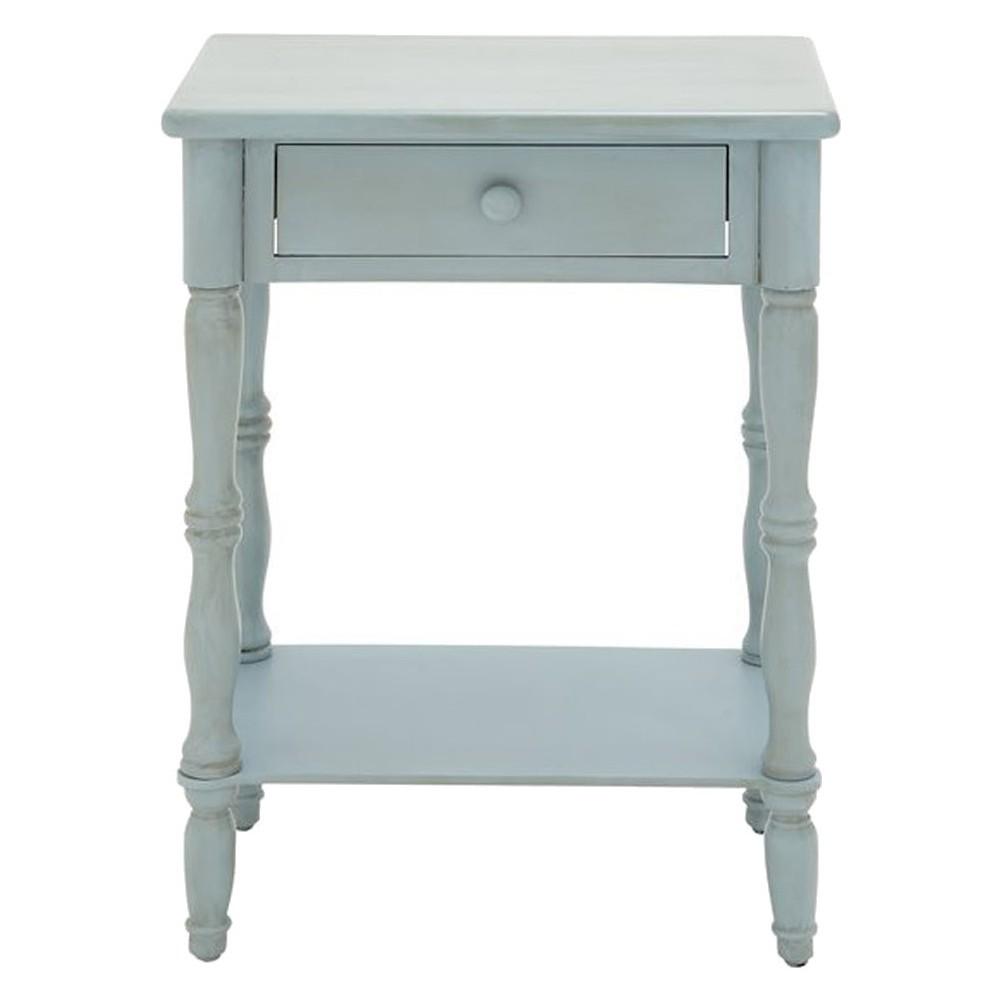 End Table Bleach White - Benzara