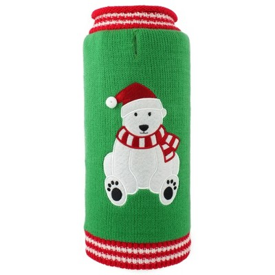 The Worthy Dog Christmas Bear Roll Neck Pullover Sweater