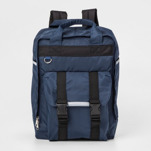 """Bioworld 15.5"""" Square Backpack - Navy Blue - image 1 of 12"""