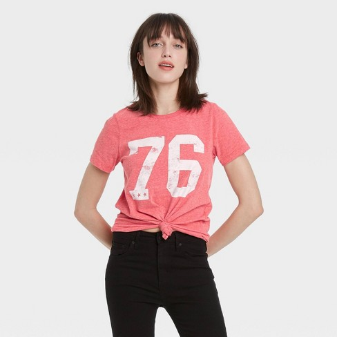 Women's '76 Short Sleeve Graphic T-Shirt - Red - image 1 of 2