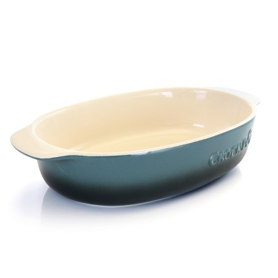 Crock Pot 2.5 Quart Blue Stoneware Bake Pan