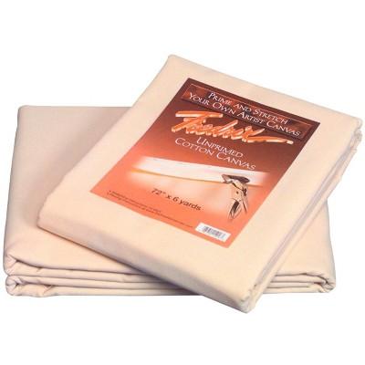 Fredrix Cotton Duck Unprimed Folded Canvas, 72 Inches x 6 Yards, 12 Ounces