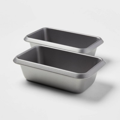 """2pk 9"""" x 5"""" Non-Stick Loaf Pan Aluminized Steel - Made By Design™"""