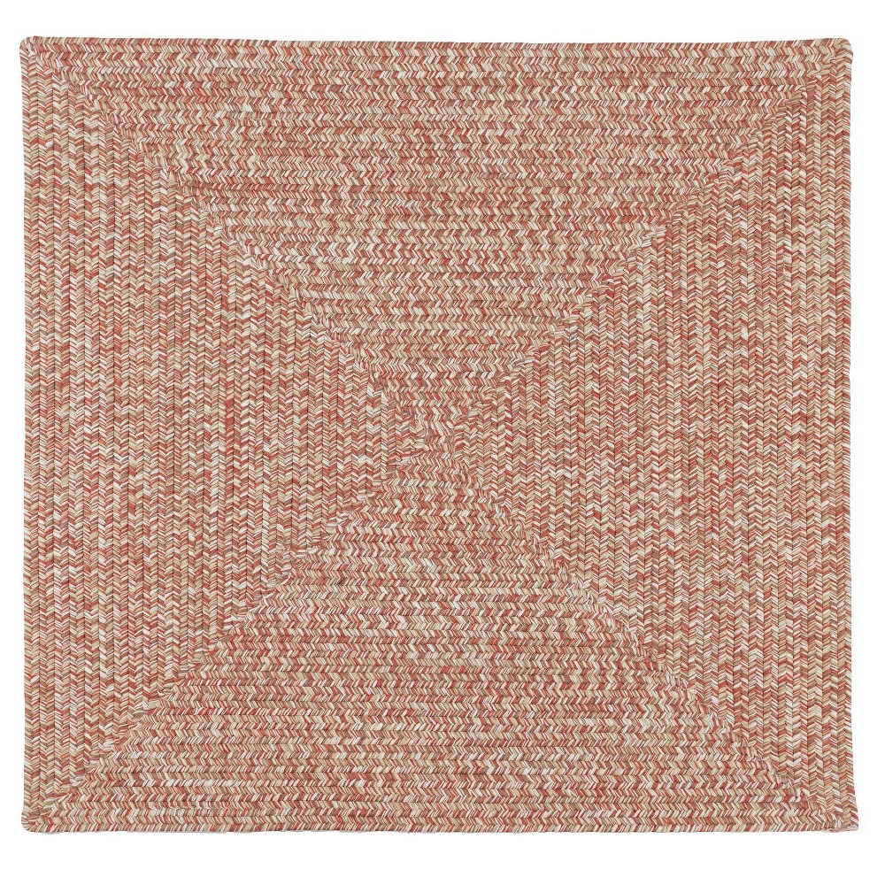Forest Tweed Braided Area Rug Pink