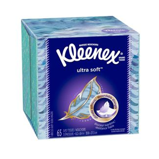 Kleenex Ultra Soft 3-Ply Facial Tissue, 65 Sheets
