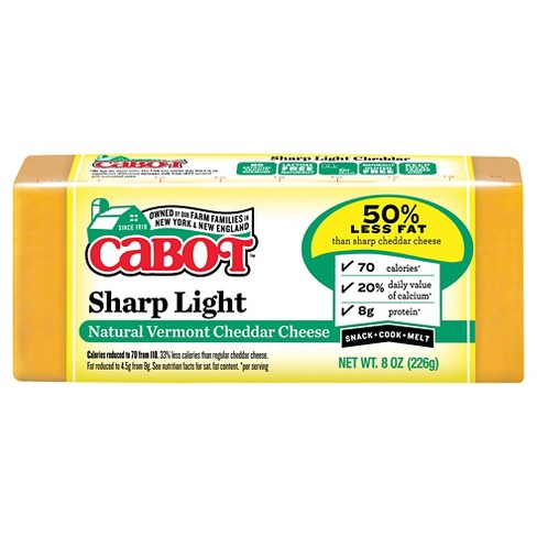Cabot Sharp Light Natural Vermont Cheddar Cheese - 8oz - image 1 of 1