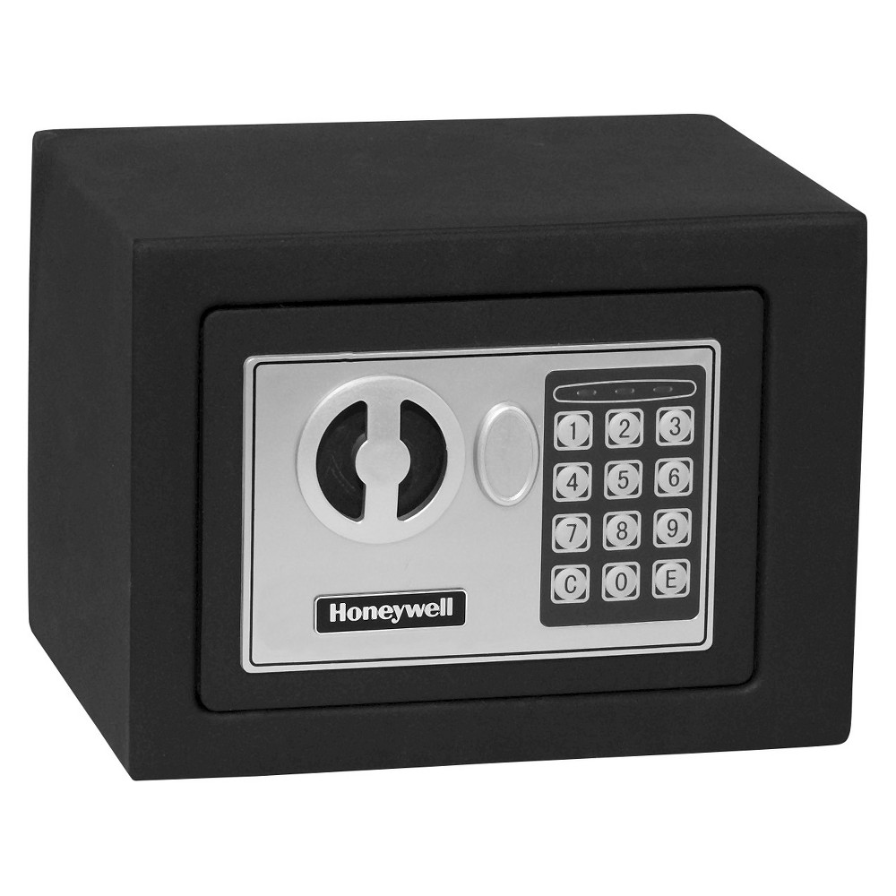 Image of 0.17 Cu. Ft. Steel Security Safe - Black
