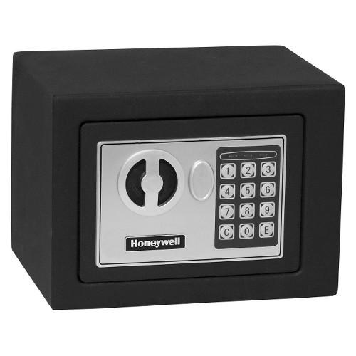 0.17 Cu. Ft. Steel Security Safe - Black