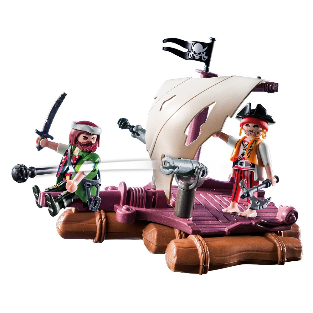 Playmobil Pirate Raft Playset, Multi-Colored